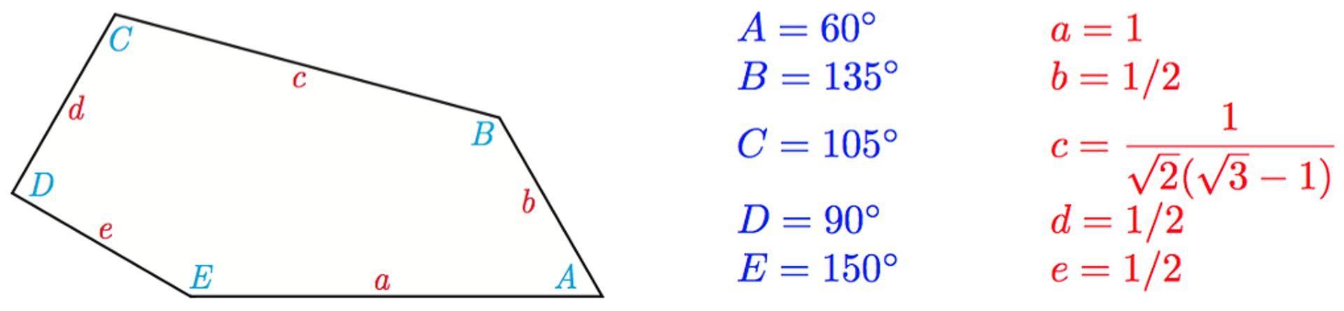 Το δέκατο πέμπτο πεντάγωνο που μπορεί να επιστρώσει ένα επίπεδο Πηγή Casey Mann