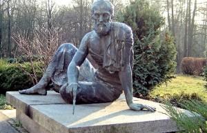 Αυτό το μπρούτζινο άγαλμα του Αρχιμήδη είναι στο Παρατηρητήριο Archenhold στο Βερολίνο. Είναι γλυπτό του Gerhard Thieme που παρουσιάστηκε το 1972.